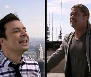 Duo de yodel entre Jimmy Fallon et Brad Pitt