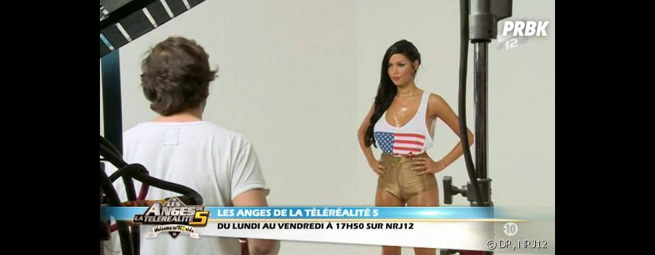 Les Anges 5 : Nabilla en forme pour le tournage du clip.