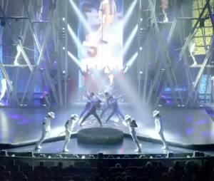 La famille Jackson assiste au spectacle du Cirque du Soleil, samedi 29 juin 2013 à Las Vegas