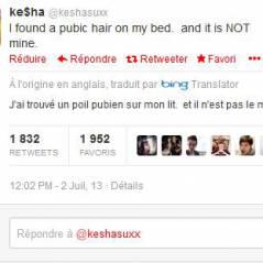 """Kesha : """"mais à qui est ce poil pubien ?"""", nouveau coup de folie sur Twitter"""