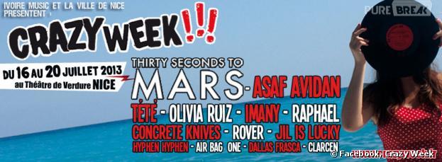 Crazy week Festival, édition 2013