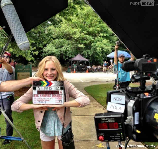 Vampire Diaries saison 5 : première photo de tournage avec Candice Accola