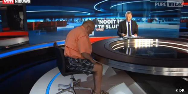 Jean-Luc Dehaene débarque en short et sandales à la télévision belge