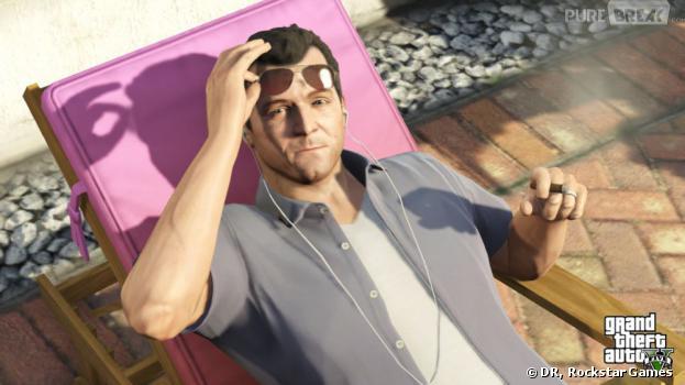 GTA 5 : Michael fait bronzette