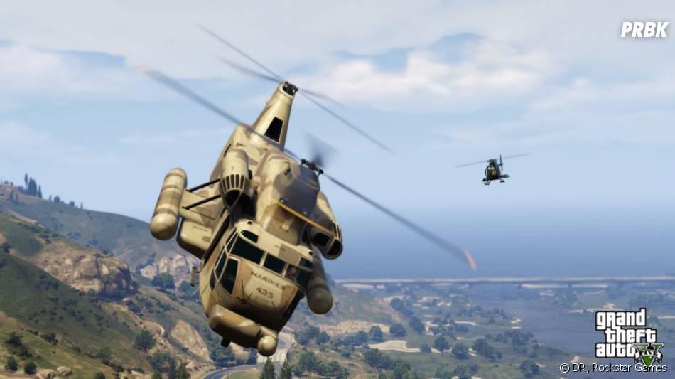 GTA 5 : parmi les véhicules, on retrouvera aussi un hélicoptère d'attaque
