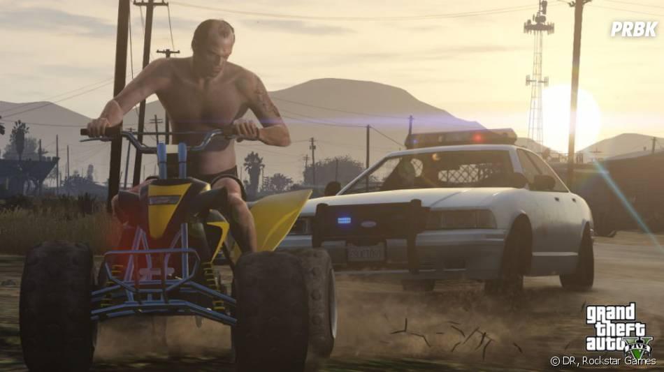 GTA 5 : Trevor en quad