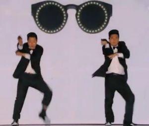 The Best, le meilleure artiste : petit clin d'oeil à Psy pendant la prestation de Khan & Moon.