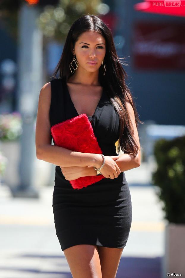 Nabilla Benattia sur le tournage d'Hollywood Girls 3à Los Angeles le 9 août 2013