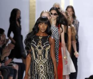 Naomi Campbell à la Mercedes Benz Fashion Week de New-York en septembre 2013