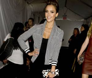 Jessica Alba à la Mercedes Benz Fashion Week de New-York en septembre 2013
