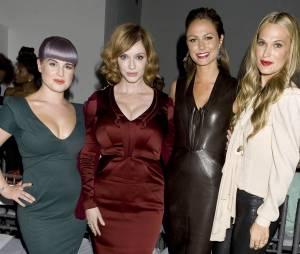 Kelly Osbourne, Christina Hendricks, Molly Sims... à la Mercedes Benz Fashion Week de New-York en septembre 2013