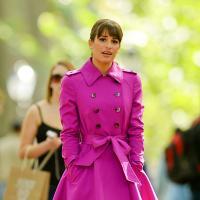 Lea Michele resplendissante sur le tournage de Glee à New York