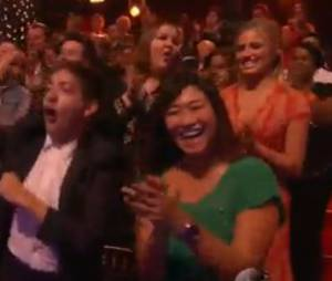 "Le cast de Glee a soutenu Amber Riley dans le public de ""Dancing with the stars"""