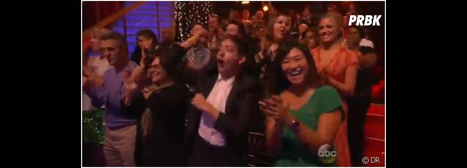 """Le cast de Glee a soutenu Amber Riley dans le public de """"Dancing with the stars"""""""