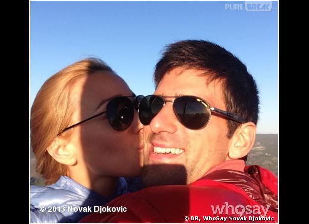 Novak Djokovic et Jelena Ristic amoureux et fiancés, le 25 septembre 2013