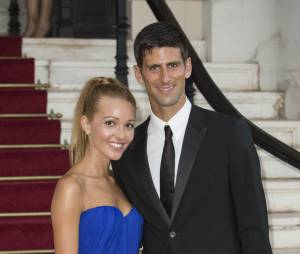 Novak Djokovic et Jelena Ristic à Monaco, le 27 juillet 2013