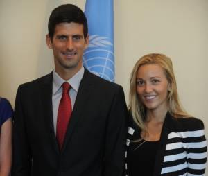 Novak Djokovic et Jelena Ristic à New York en août 2013