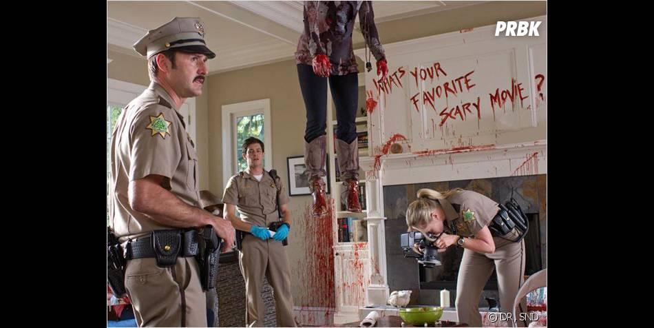 David Arquette et Adam Brody dans Scream 4