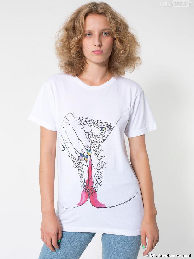 American Apparel : des t-shirts imprimés menstruation