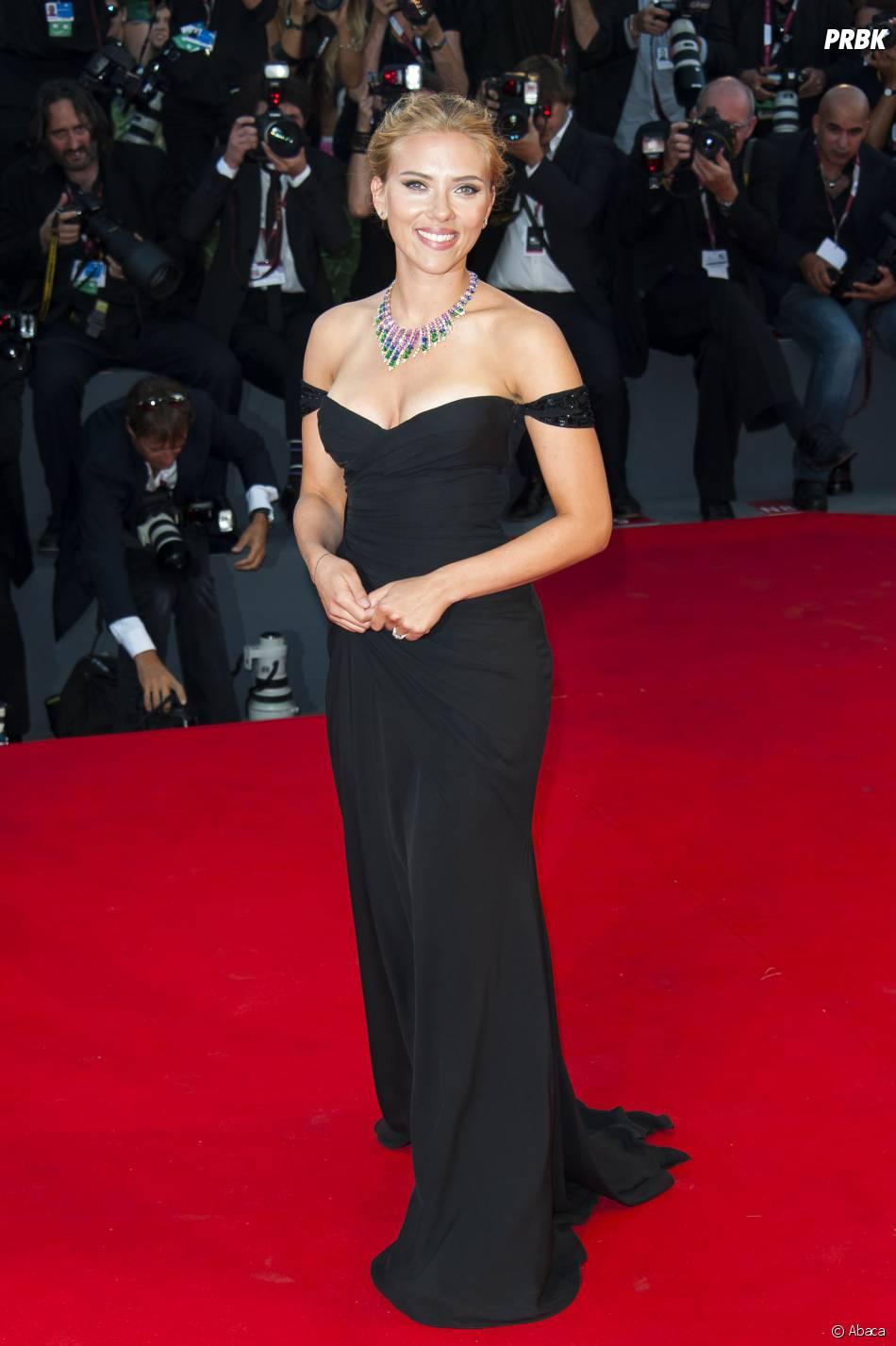 Scarlett Johansson lors de la projection de 'Under the Skin' à la Mostra de Venise, le 3 septembre 2013