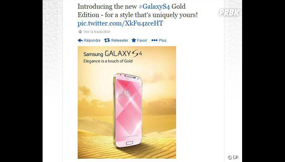 Samsung dévoile un Galaxy S4 doré pour contrer l'iPhone 5S couleur champagne