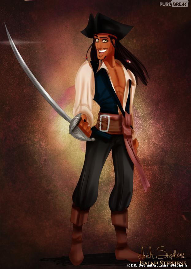 Disney en mode Halloween : Naveen en Jack Sparrow