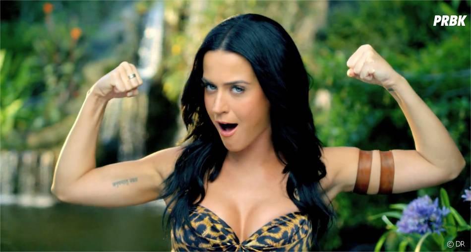 """Katy Perry dans le clip Roar, extrait de son dernier album """"Prism"""""""