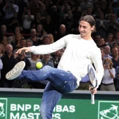 Zlatan Ibrahimovic passe du foot au tennis avec Novak Djokovic