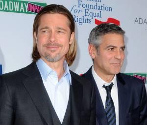 George Clooney et Brad Pitt, meilleurs amis à Hollywood