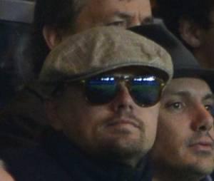 Leonardo DiCaprio pendant PSG VS Anderlecht, le 5 novembre 2013 au Parc des Princes