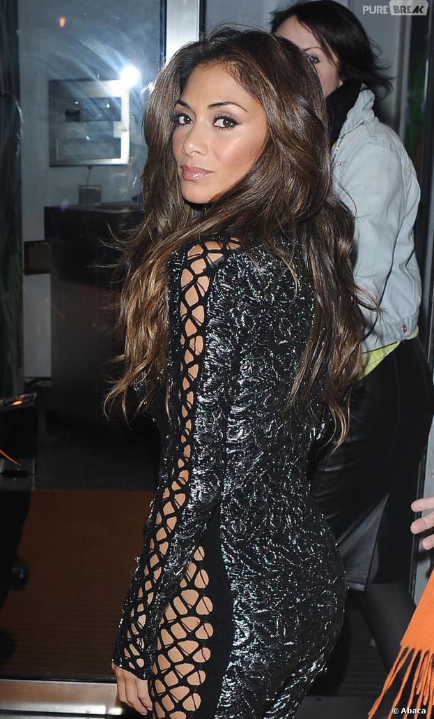 Nicole Scherzinger à la soirée anniversaire d'un restaurant londonien le 12 novembre 2013