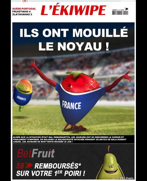 Oasis fête la victoire de la France