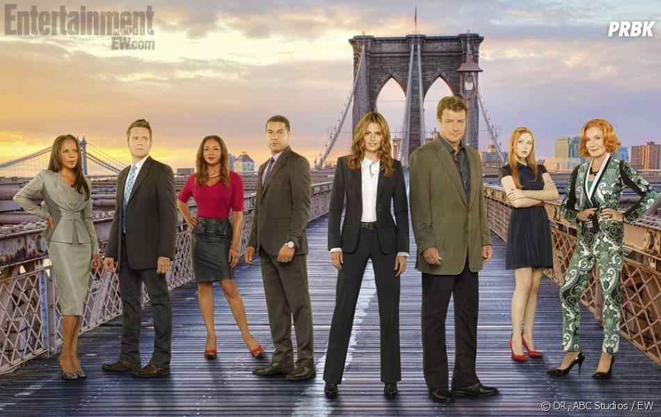 Castle saison 6 : photo promotionnelle avec les acteurs
