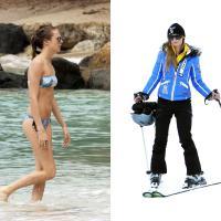 Cara Delevingne à la plage VS Paris Hilton à la montagne : qui est la plus stylée ?