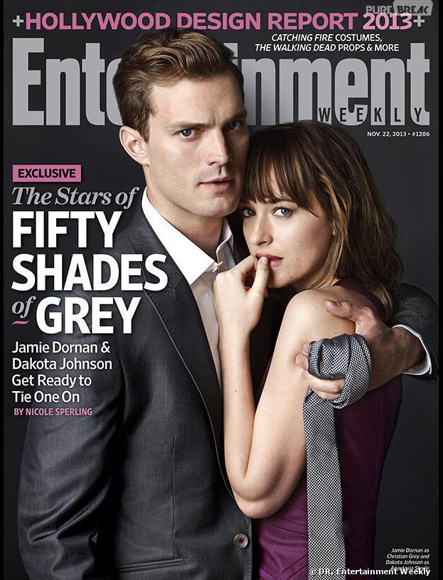 Fifty Shades of Grey : Jamie Dornan et Dakota Johnson en Une d'EW