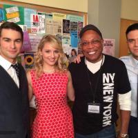 Glee saison 5 : Dianna Agron en photo sur le tournage de l'épisode 100