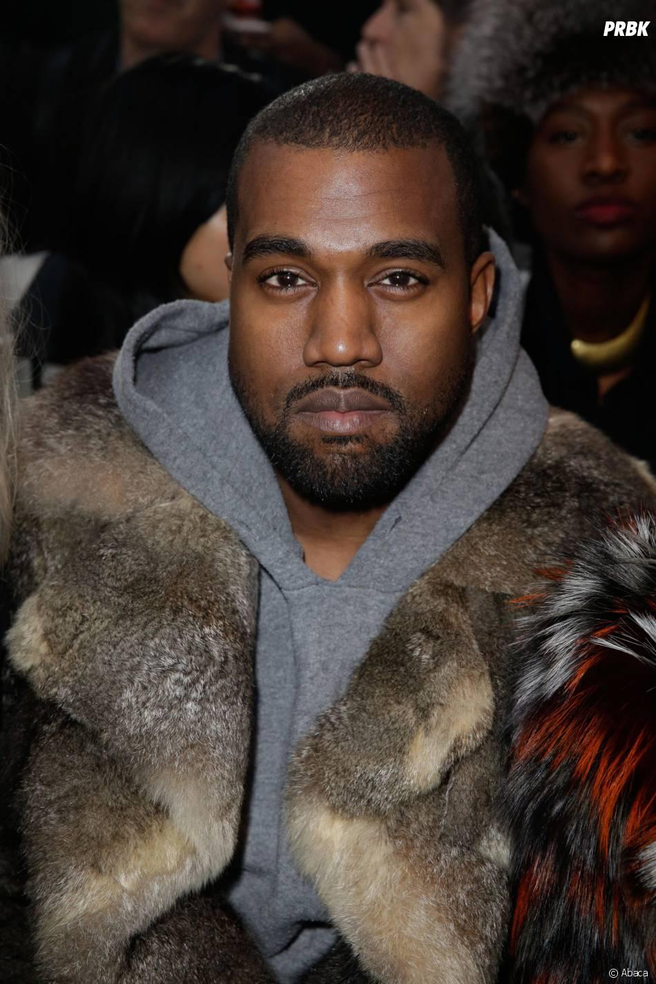 Kanye West au défilé Givenchy à la Fashion Week de Paris, janvier 2014