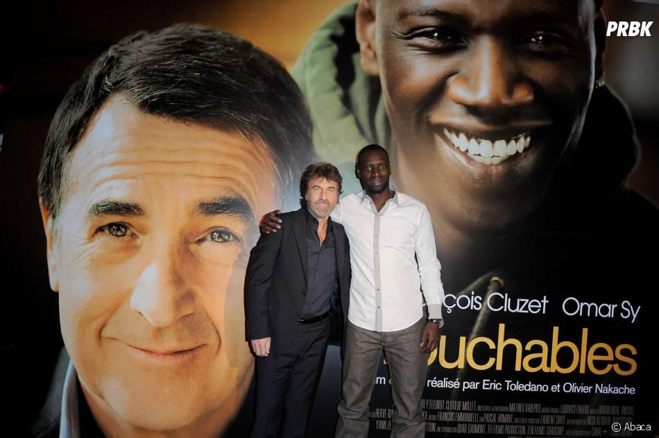 François Cluzet et Omar Sy lors de la promotion du film Intouchables