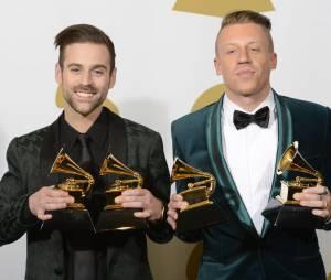 Grammy Awards 2014 : Mackelmore & Ryan Lewis gagnants lors de la cérémonie qui s'est déroulée le 26 janvier 2014 à Los Angeles
