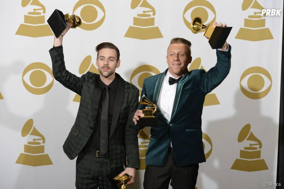 Grammy Awards 2014 : Macklemore & Ryan Lewis remportent quatre prix lors de la cérémonie qui s'est déroulée le 26 janvier 2014 à Los Angeles