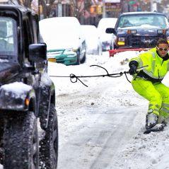 [FUN] Après une tempête de neige à New York, il fait du snowboard dans les rues