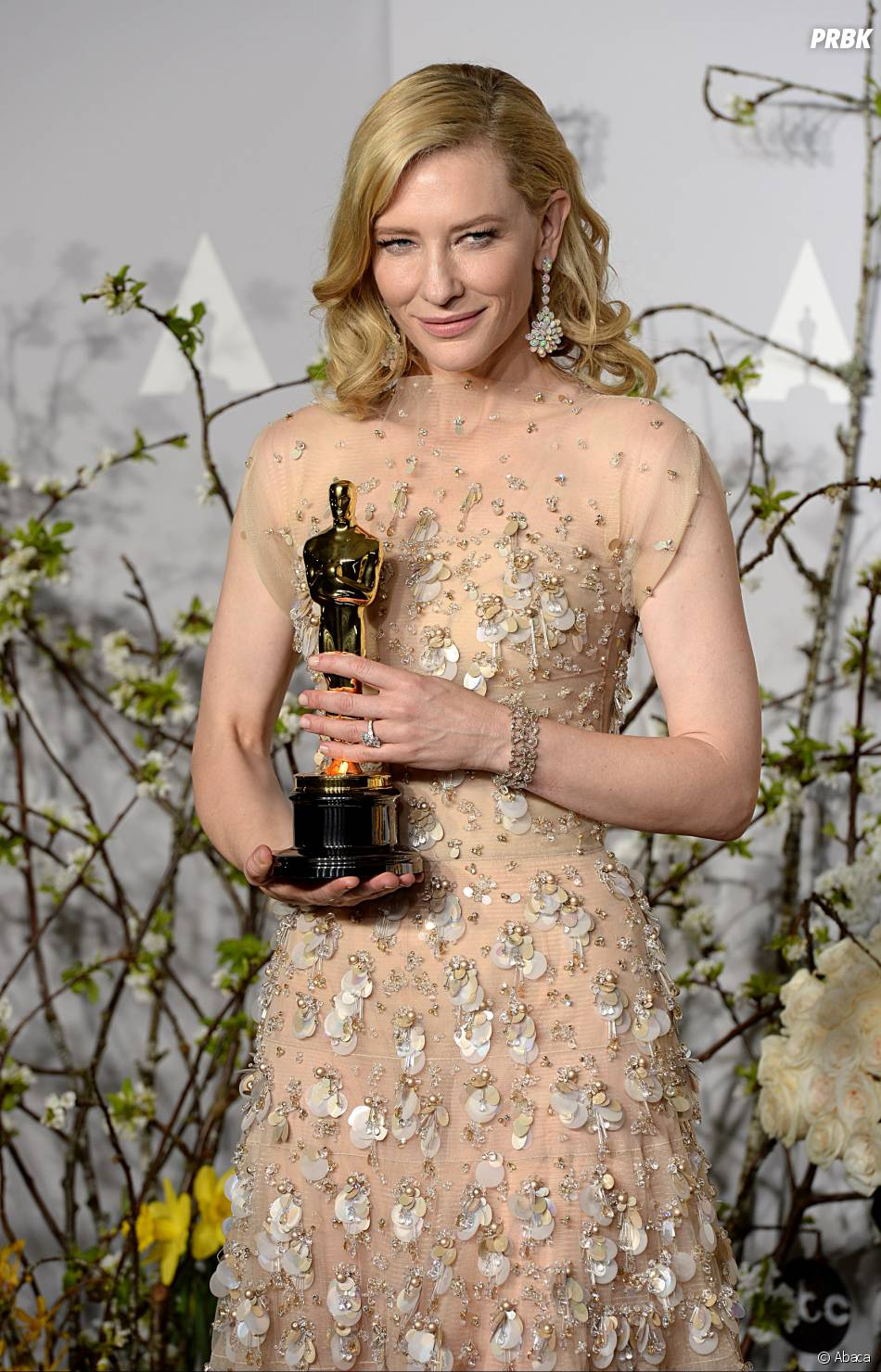 Cate Blanchett gagnante aux Oscars 2014 le 2 mars à Los Angeles