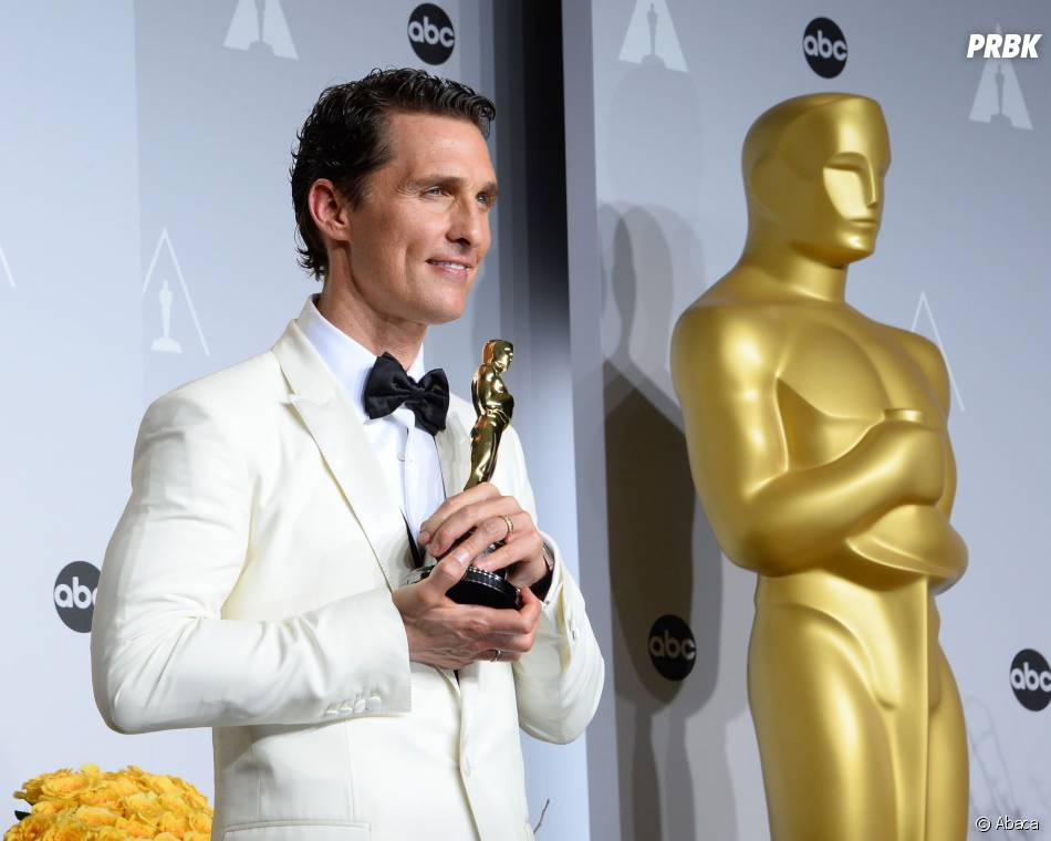 Matthew McConaughey gagnant aux Oscars 2014 le 2 mars à Los Angeles