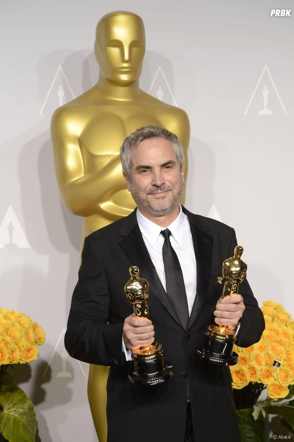 Alfonso Cuaron gagnant avec Gravity  aux Oscars 2014 le 2 mars à Los Angeles