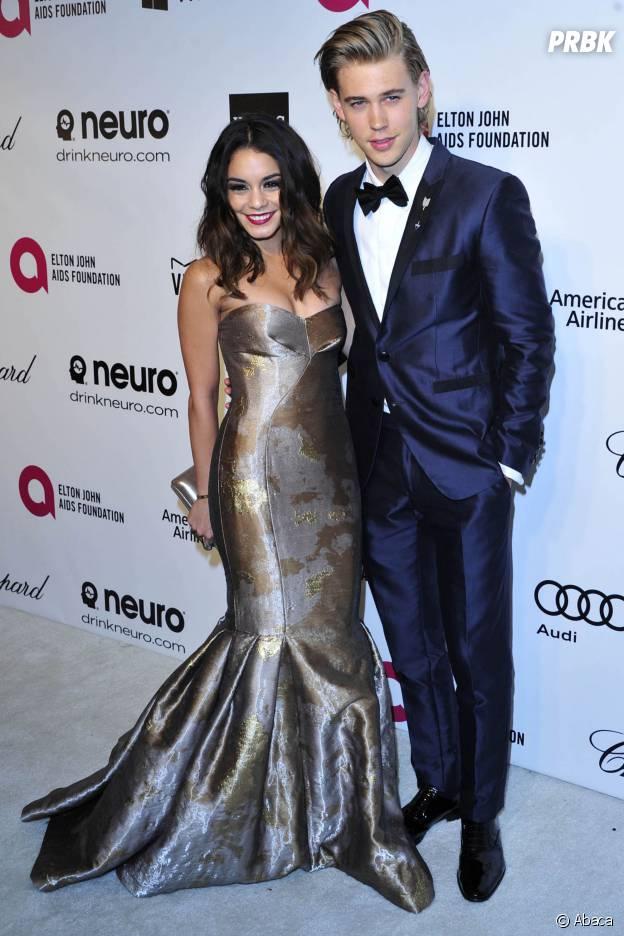 Vanessa Hudgens et Austin Butler lors d'une soirée organisée par Elton John le 2 mars 2014
