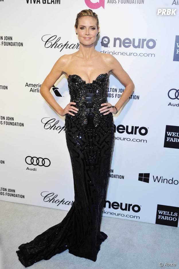 Heidi Klum lors d'une soirée organisée par Elton John le 2 mars 2014