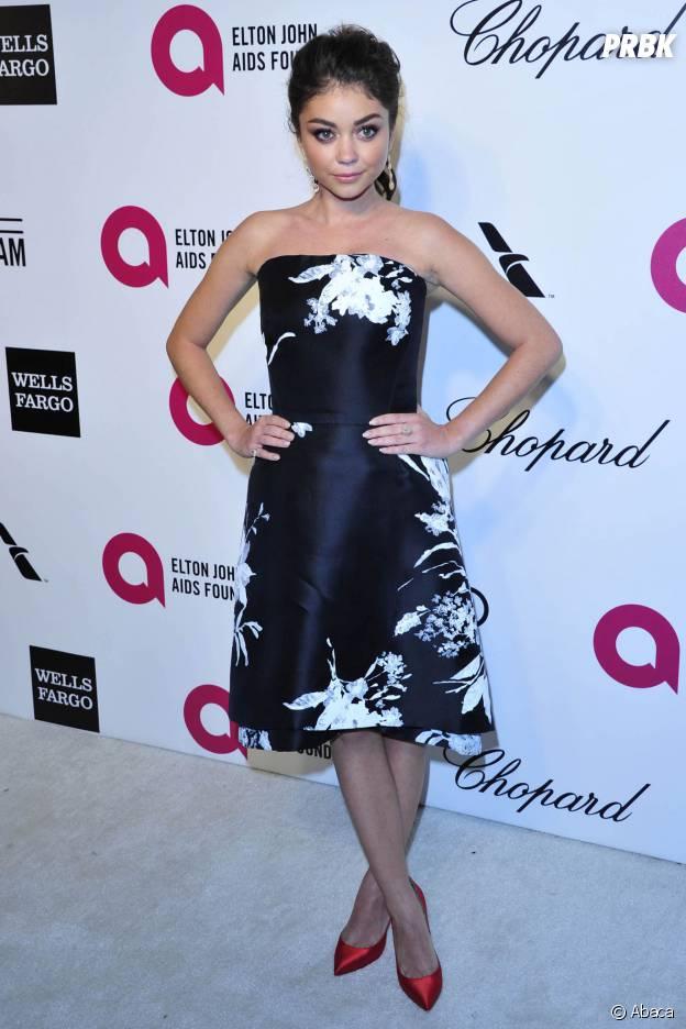 Sarah Hyland lors d'une soirée organisée par Elton John le 2 mars 2014