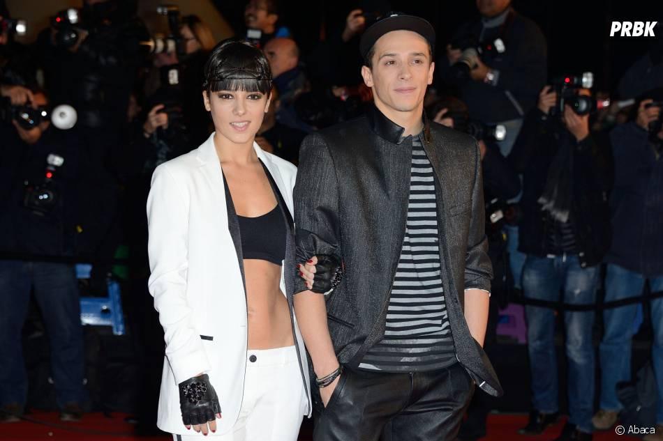 Alizée et Grégoire Lyonnet sur le tapis rouge des NMA 2014