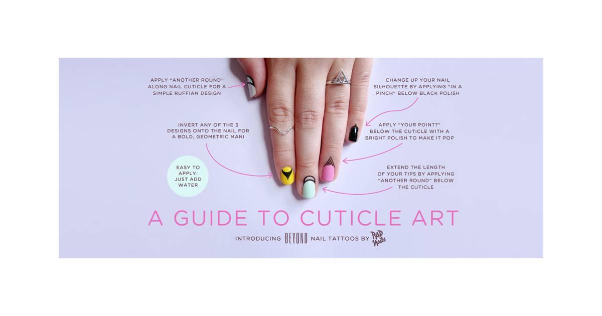 tatouages pour cuticules par rad nails. Black Bedroom Furniture Sets. Home Design Ideas