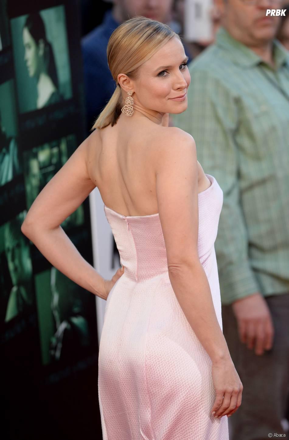 Kristen Bell dans une robe J Mendel, le 12 mars 2014 à LA pour l'avant-première du film Veronica Mars